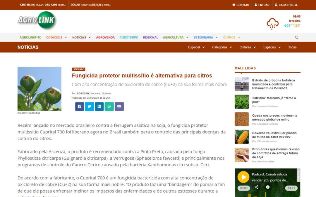Fungicida protetor multissítio é alternativa para citros